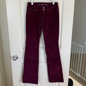 Cranberry Corduroy Pants